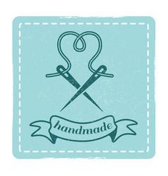 Vintage hipster handmade emblem design vector