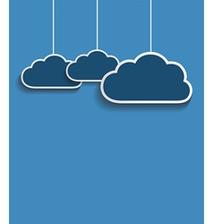 dark clouds vector image vector image