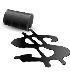Drum with spilled oil vector image vector image