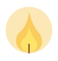flame lit candle icon vector image