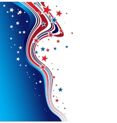 Independence Day patriotic background vector image