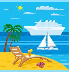 tropical sea beach vector image vector image