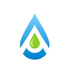 water drop aqua blue logo vector image