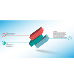 3d infographic template with embossed vector image