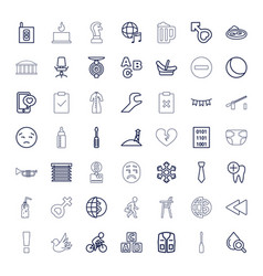 49 blue icons vector