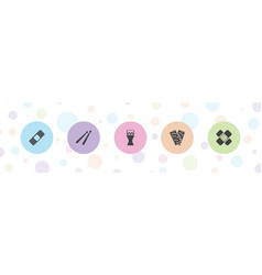 5 band icons vector