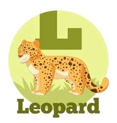 ABC Cartoon Leopard vector image
