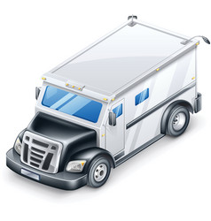 armored truck vector image