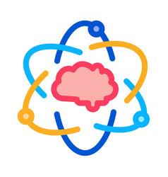 atom human brain icon outline vector image