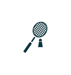 Badminton icon simple vector