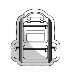 Bag school supply icon vector