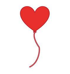 balloon air with shape heart vector image