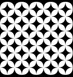 Black and white seamless star pattern - geometric vector