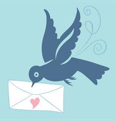 Bluebird of happiness vector