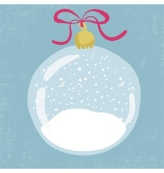 bright hand drawn snow globe vector image
