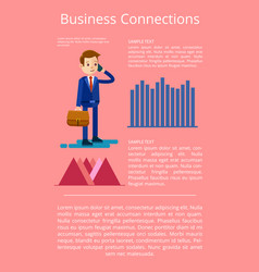 Business connections data vector