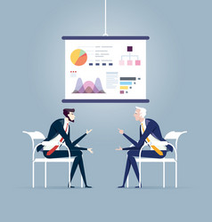 business meeting and presentation board business vector image