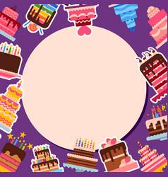 cake shop round round pattern vector image