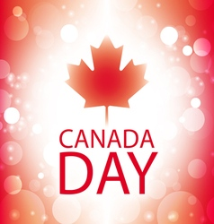 Canada Day banner with canadian flag abstract vector