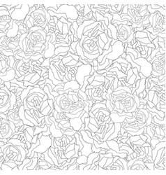 Carnation flower outline seamless background vector