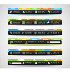 Collection of web elements - Various templates vector image