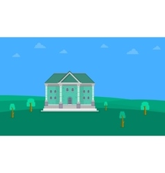 Collection stock of house landscape vector