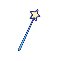 colorful magic wand stick to wizard object vector image