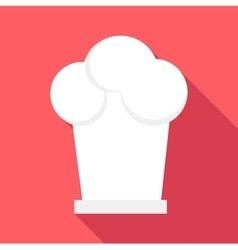 Cook cap icon flat style vector