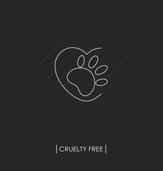 cruelty free logo not tested on animals vector image