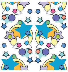 cute stars simple pattern nursery vector image