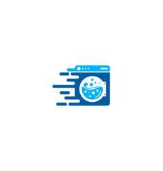 delivery laundry logo icon design vector image