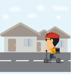 delivery young boy vector image