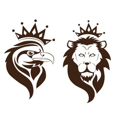 eagle lion symbol vector image