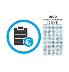 Euro Prices Rounded Icon with 1000 Bonus Icons vector