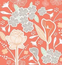 flower pattern set 1E vector image