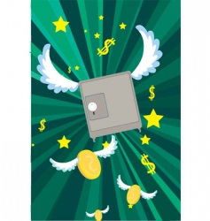 flying money vector image
