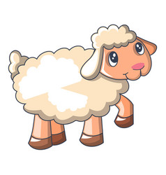 Funny sheep icon cartoon style vector