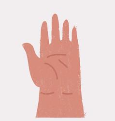 Hand human isolated vector