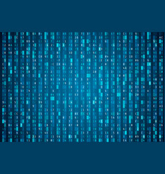hex code stream random hexadecimal code cyber vector image