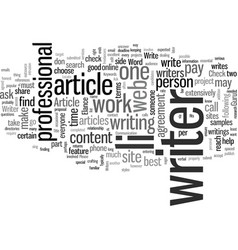 How to locate hire and work with an article writer vector