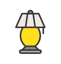 lantern or lamp icon filled style editable stroke vector image