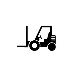loader icon forklift flat icon vector image