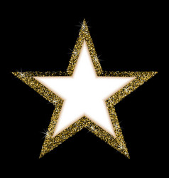 luxury gold star a beautiful golden star vector image