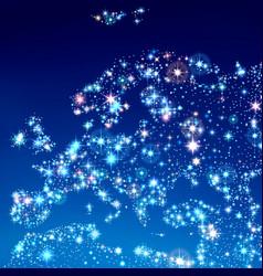 Map europe in sky vector