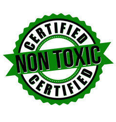 non toxic certified label or sticker vector image