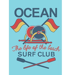 Ocean Surf Club equipment vector