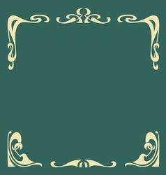 ornamental vintage frame vector image