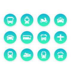 Passenger transport icons vector