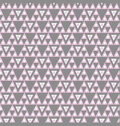 pink and gray geometric triangle seamless vector image