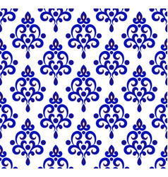 porcelain pattern design vector image